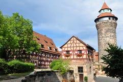 slott nuremberg Arkivbild