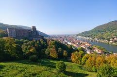 Slott och den gammala townen i Heidelberg, Tyskland Royaltyfria Foton