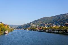 Slott och den gammala townen i Heidelberg, Tyskland Arkivfoto
