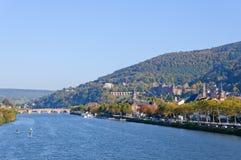 Slott och den gammala townen i Heidelberg, Tyskland Royaltyfri Bild