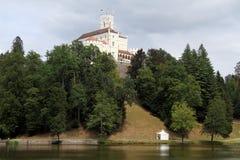 Slott och lake Royaltyfria Bilder