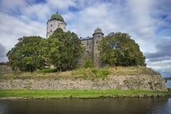 Slott och tornet av St. Olav. Vyborg. Ryssland Arkivfoton