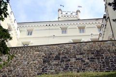 Slott och vägg Arkivbilder