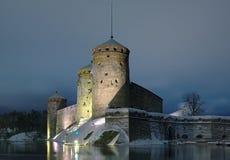 Slott Olavinlinna i Savonlinna, Finland Royaltyfri Fotografi