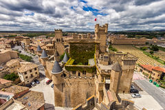 Slott Olite Navarra Spanien Arkivbilder