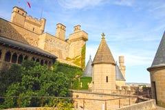 Slott Olite, Navarre, Spanien Arkivfoton