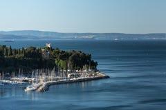 Slott på Adriatiskt havet Royaltyfria Foton