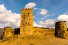 Slott på berg Arkivfoton