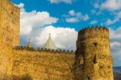 Slott på berg Arkivbilder