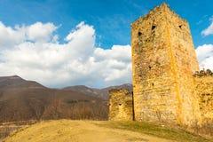 Slott på berg Arkivbild
