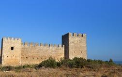 Slott på den Crete ön i Grekland Arkivfoto