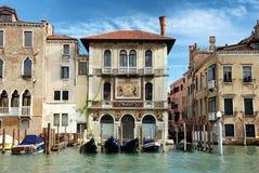 Slott på den storslagna kanalen i Venedig Royaltyfri Bild