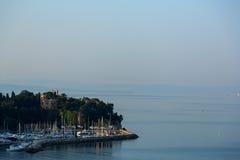Slott på den Trieste fjärden Royaltyfria Foton