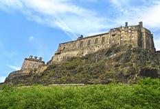 Slott på Edinburg Skottland Royaltyfria Foton