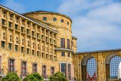Slott på Gijon Spanien Arkivfoto