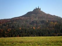 Slott på kullen Arkivbild