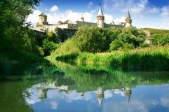 Slott på kullen Royaltyfri Foto