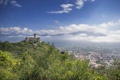 Slott på Monte Cassino Royaltyfria Bilder