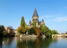 Slott på Moselle Arkivfoto
