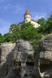 Slott på rocken Royaltyfria Foton