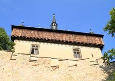Slott på slotten Karlstejn Arkivbilder