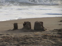 Slott på stranden Royaltyfri Fotografi