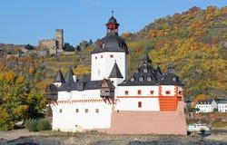 Slott Pfalzgrafenstein Arkivbild