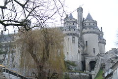Slott Pierrefonds Royaltyfri Foto