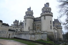 Slott Pierrefonds Royaltyfria Foton