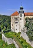 Slott Pieskowa Skala i Polen arkivfoton