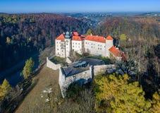 Slott Pieskowa Skala nära Krakow, Polen Royaltyfria Foton