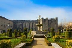 slott portugal för bishop braga Arkivfoto