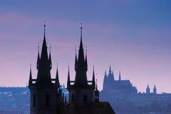 slott prague Arkivbilder