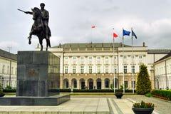 slott presidents- warsaw Royaltyfri Fotografi