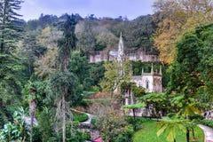 Slott Quinta da Regaleira - Sintra, Portugal royaltyfria foton