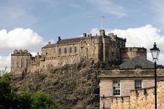 slott södra edinburgh royaltyfri fotografi