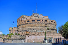 Slott sant angelo Rome Arkivbild