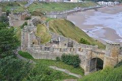 slott scarborough Fotografering för Bildbyråer