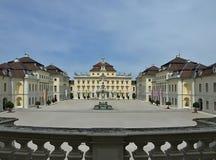 Slott Schloss Ludwigsburg i Stuttgart i Tyskland royaltyfri bild