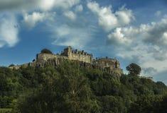 slott scotland stirling Arkivbild