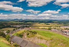 slott scotland stirling Arkivfoton