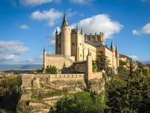 Slott-skepp Alcazar, Segovia, Spanien Arkivfoton