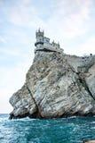 Slott-slotten 'Lastochkino Gnezdo 'i Krim royaltyfria bilder