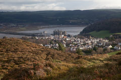 slott som är conwy till sikter Royaltyfri Fotografi