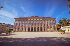 Slott som är från Liechtenstein i Wien, Österrike Arkivfoton