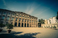 Slott som är från Liechtenstein i Wien, Österrike Royaltyfria Bilder