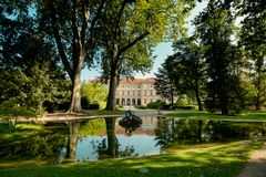 Slott som är från Liechtenstein i Wien, Österrike Arkivbilder