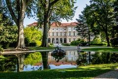 Slott som är från Liechtenstein i Wien, Österrike Arkivfoto