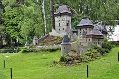 Slott som modell av byggnad Royaltyfri Bild