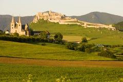 slott spissky slovakia Arkivbild